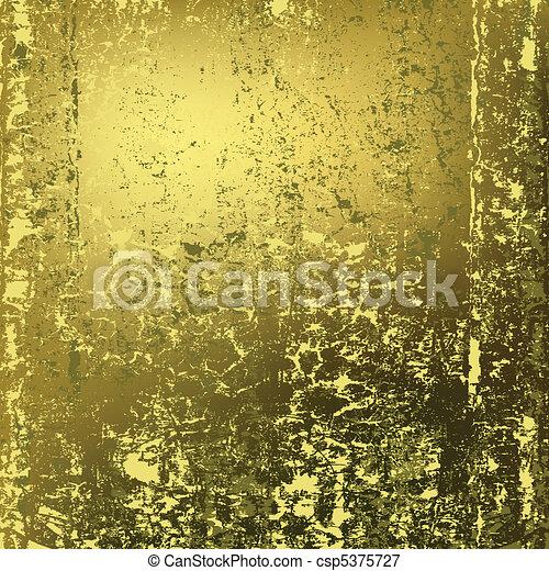 abstract background texture of rusty golden metal - csp5375727