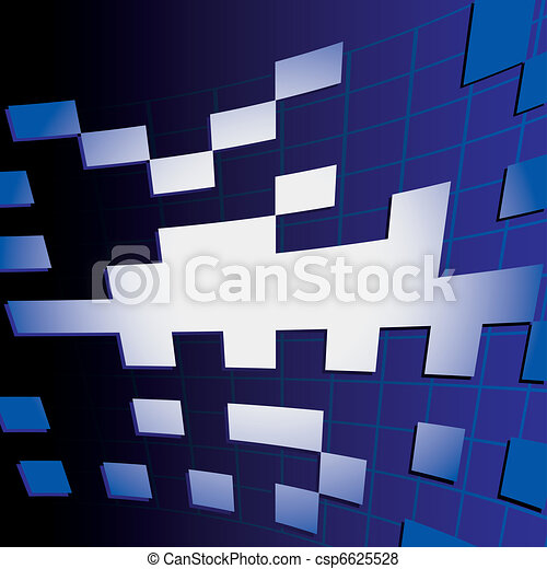 Abstract background vector cube - csp6625528