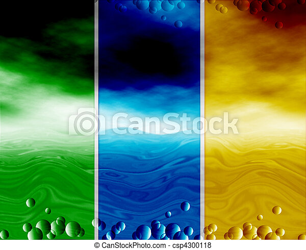 Abstract background, water and sky, drops - csp4300118