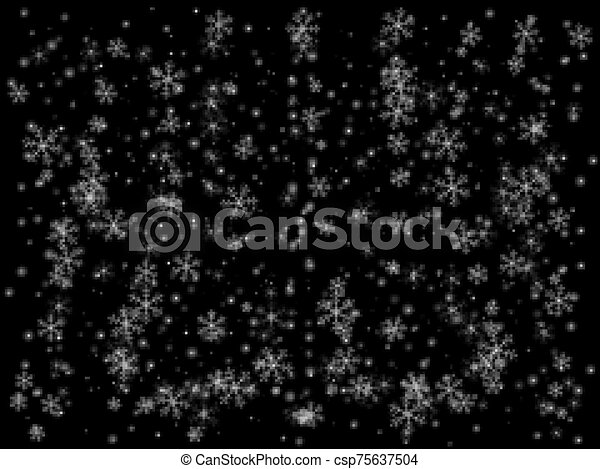 Abstract background. Winter snowfall - csp75637504