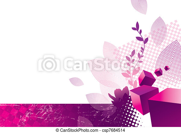 Abstract background with 3d cubes - csp7684514