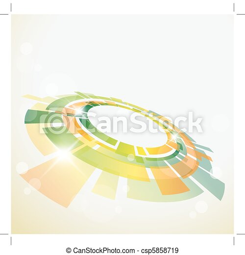 Abstract background with 3D  object - csp5858719
