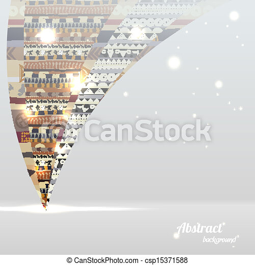 Abstract background with a African element and the glowing balls - csp15371588