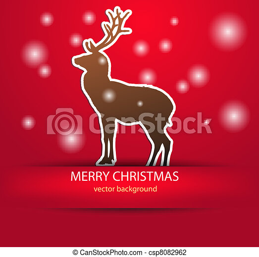 Abstract background with a Christma - csp8082962