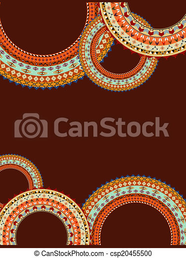 Abstract background with a circular geometric pattern - csp20455500