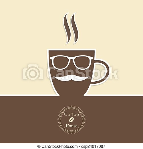 Abstract background with a cup of coffee - csp24017087