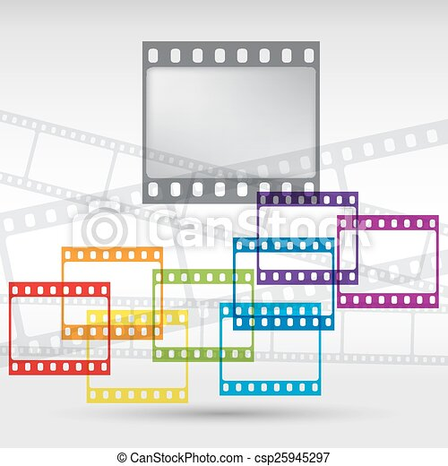 Abstract background with a film strip. Vector Eps 10 - csp25945297
