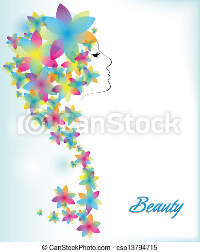 Abstract background with a girl's - csp13794715