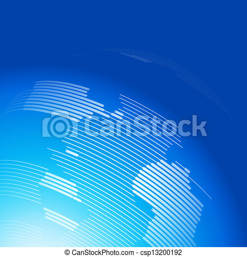 Abstract background with a map of the world - csp13200192