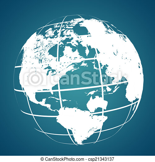 Abstract background with a map of the world - csp21343137