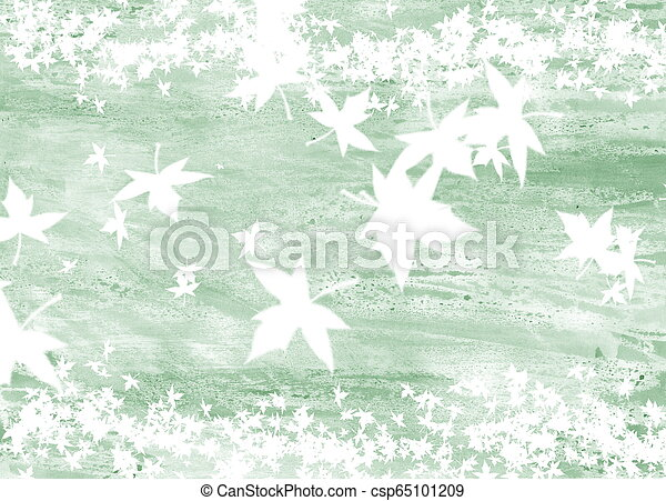abstract background with a picture of maple leaves - csp65101209