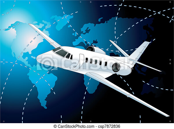 Abstract background with airplane - csp7872836