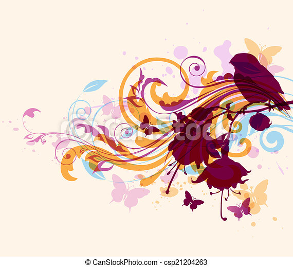 Abstract background with bird - csp21204263