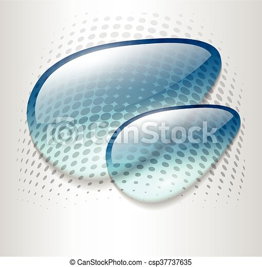 Abstract background with blue dews - csp37737635