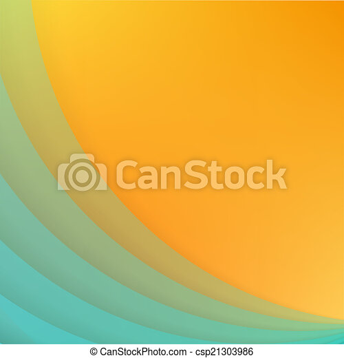 Abstract background with blue paper curves. - csp21303986