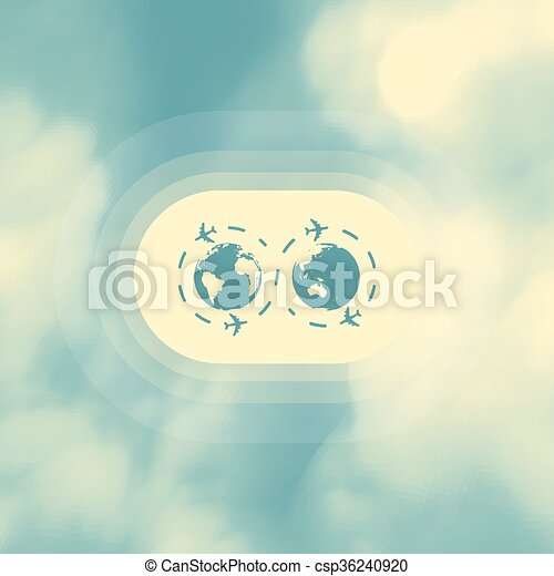 Abstract background with blue sky and clouds. Vector illustration. - csp36240920