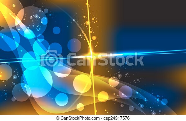 Abstract background with blurred neon light dots. - csp24317576