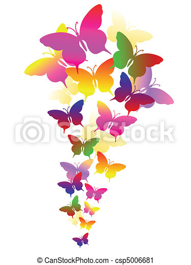 abstract background with butterflies - csp5006681