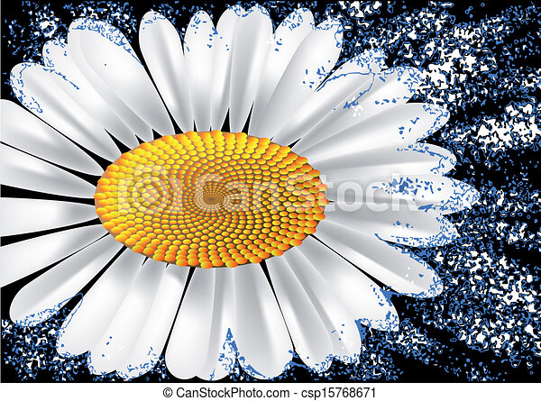 abstract background with chamomile - csp15768671
