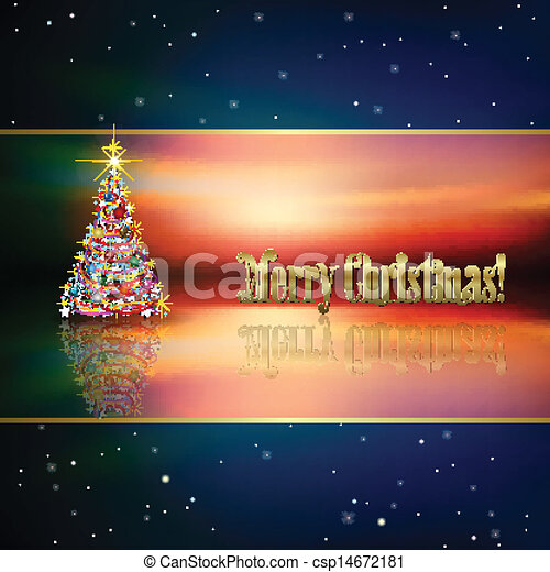 Abstract background with Christmas tree - csp14672181