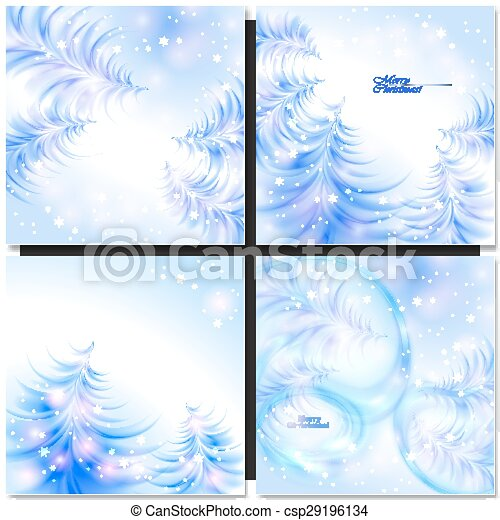 Abstract background with Christmas tree - csp29196134