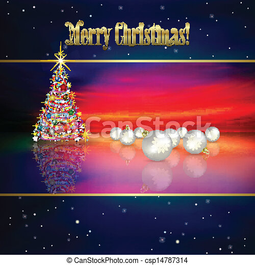 Abstract background with Christmas tree - csp14787314