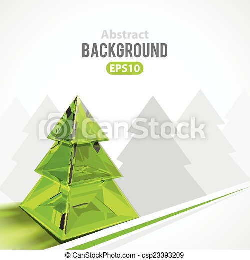 Abstract background with Christmas tree - csp23393209