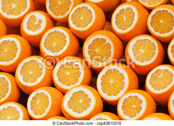 Abstract Background With Citrus Fruit Of Orange Slices Close Up