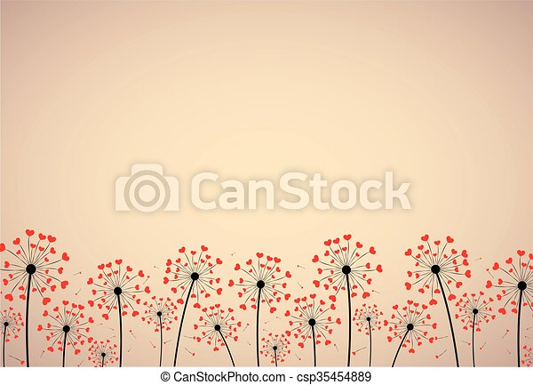 Abstract background with dandelions - csp35454889