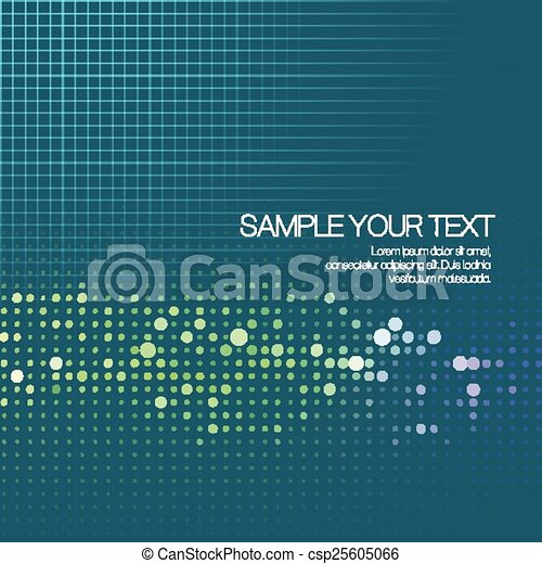 Abstract background with dots. Vector illustration - csp25605066