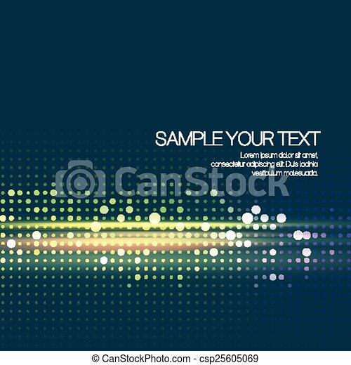 Abstract background with dots. Vector illustration - csp25605069