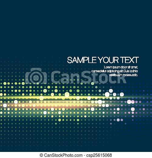 Abstract background with dots. Vector illustration - csp25615068