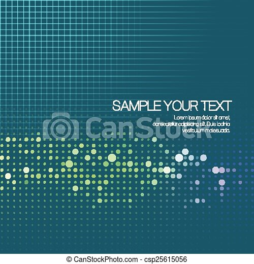 Abstract background with dots. Vector illustration - csp25615056