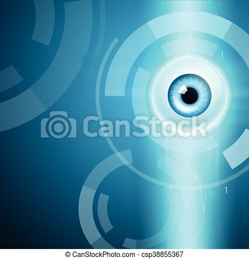 Abstract background with eye - csp38855367