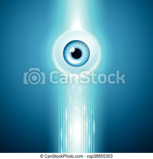 Abstract background with eye - csp38855353