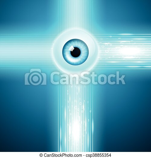 Abstract background with eye - csp38855354