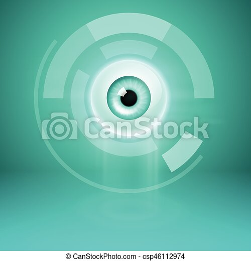 Abstract background with eye - csp46112974