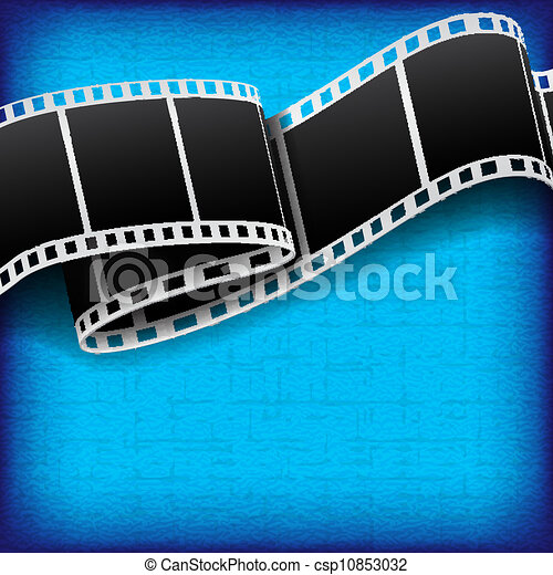 Abstract background with film reel - csp10853032