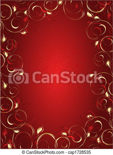 Abstract background with floral ornament - csp1728535