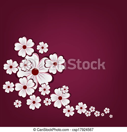 Abstract background with flowers - csp17924567