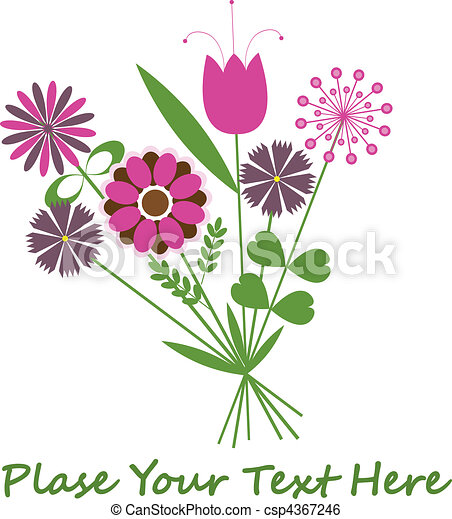Abstract background with flowers. - csp4367246