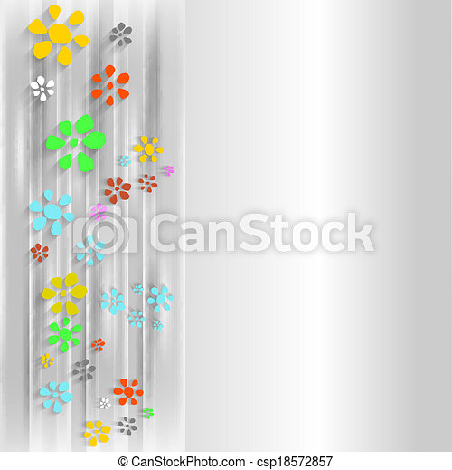 abstract background with flowers - csp18572857