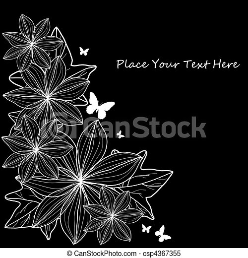 Abstract background with flowers. - csp4367355
