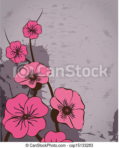 Abstract background with flowers - csp15133283