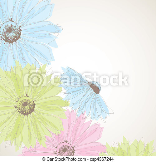 Abstract background with flowers. - csp4367244