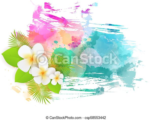 Abstract background with flowers - csp58553442