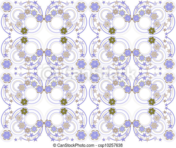 Abstract background with flowers, fashion seamless pattern - csp10257638