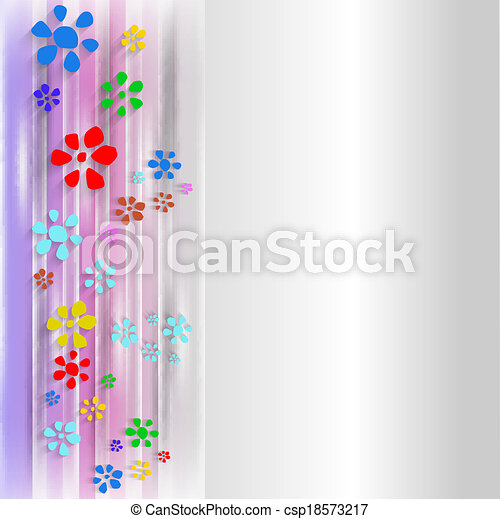 abstract background with flowers - csp18573217