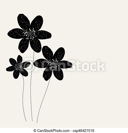 Abstract background with flowers. - csp46421516