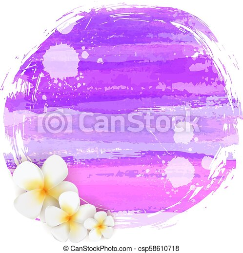 Abstract background with flowers - csp58610718